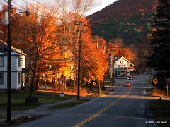 Chester Depot - October morning (Pilgrim on this road - Bill Revill) Tags: autumn fall vermont foliage chester vt chesterdepot lisais