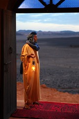 Addi Ouyahia dressed in local traditional Sahara Desert Berber clothes