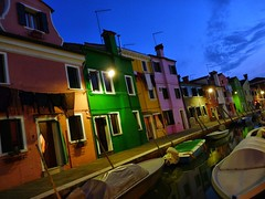 Burano houses (lrene) Tags: venice houses italy colors night boats lights evening canal europe italia barche case unesco luci soir venezia colori notte burano canale worldheritage sera notturno colorphotoaward