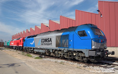 Tro de privadas. (Tomeso) Tags: madrid diesel locomotive 333 locomotora fuencarral 335 acciona comsa