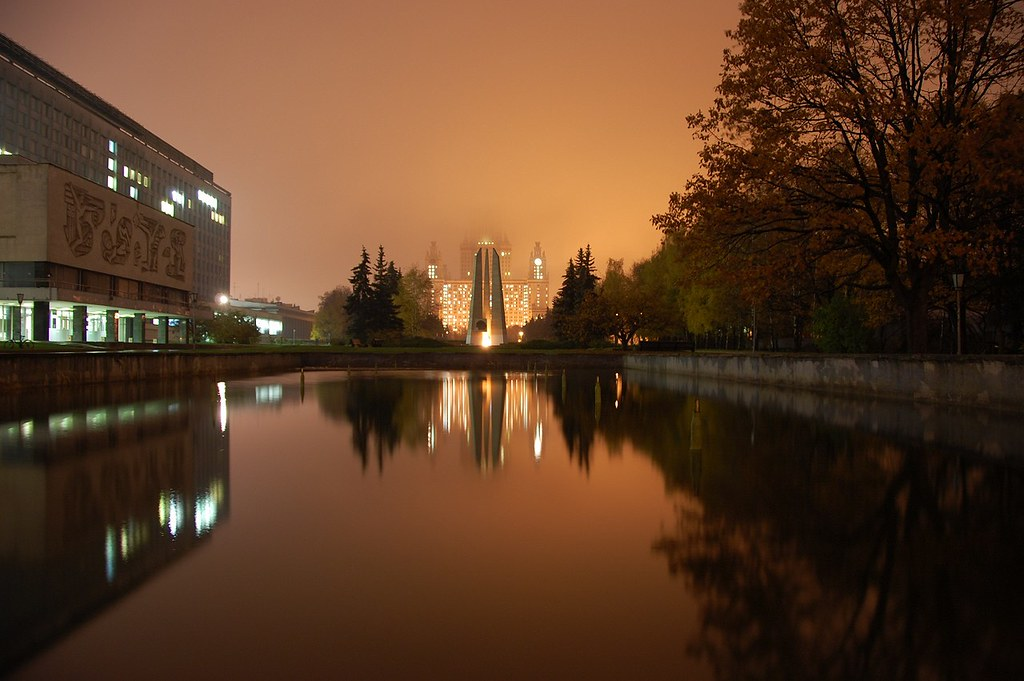 A foggy Moscow University