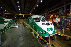 Inside GO Transit's Willowbrook repair facility (Vic Gedris) Tags: toronto train repair locomotive willowbrook gotransit