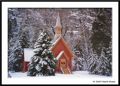 Chapel Snow 2 (Herb Dunn (YosemiteJunkie)) Tags: winter snow church nature landscape scenic chapel yosemite houseofworship yosemitechapel herbdunn dunnrightphotography kerncountyphotographers