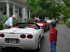 Ron's getting his camera (redvette) Tags: corvette rivervalleyvettes redvette tomhiltz