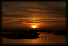 Cedar Key Sunset 123006 (MickiP65) Tags: travel sunset vacation sky orange usa fish tourism gulfofmexico nature water canon photography gold golden coast us fishing photographer gulf florida getaway 2006 creation northamerica oysters fl crabs quaint fla cedarkey levy allrightsreserved fishingvillage crabbing gulfcoast copyrighted cedarkeyfl michellepearson theloveshack naturecoast mickip mickip65 cedarkeyphotographer cedarkeyphotography filmck