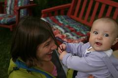 Ella yanking on Abby