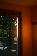 when we finally got home... (massdistraction) Tags: door orange home kitchen minnesota evening stpaul sunny deck twincities frustration saintpaul mn frustrating patiodoor longday apricotflower freshpaint freshlypainted