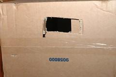 DIY softbox - hole