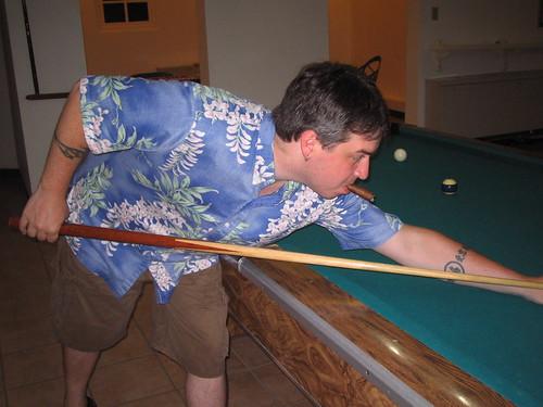 Brian Shooting Pool