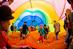 Kids play inside a hot air balloon - by star5112