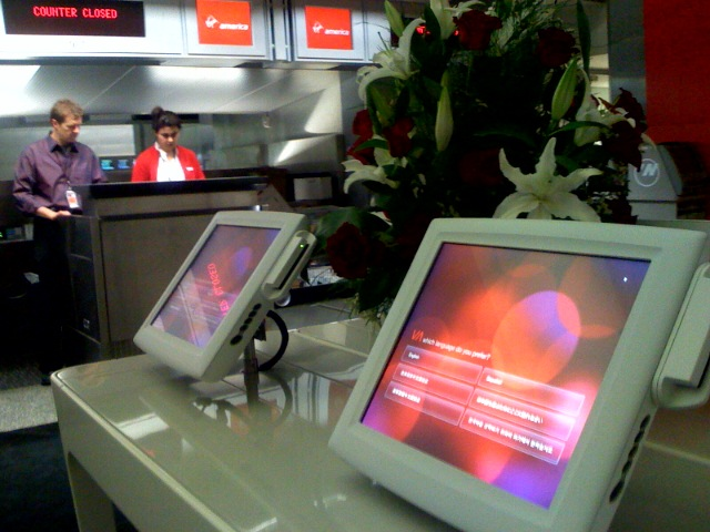 Virgin launch @ SFO gate