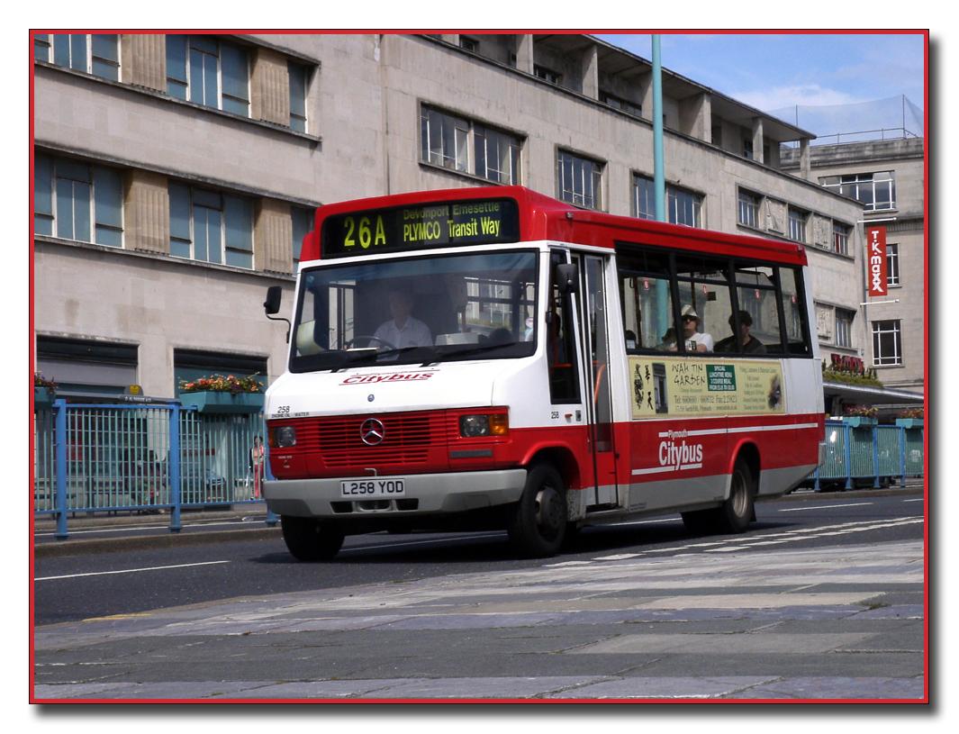 Plymouth Citybus 258 L258YOD