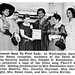 Members of Delta Sigma Theta Sorority (Dorothy Height and Patricia Roberts included) Present Delta Song to Mamie Eisenhower - Jet Magazine, May 28, 1953