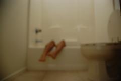 (afuchsin) Tags: feet legs toilet bathtub bathroom blurry out focus shower nikon d40