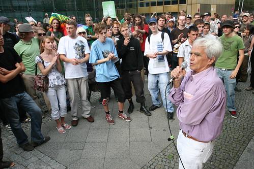 Hans-Christian Ströbele bei der Hanfparade 2007