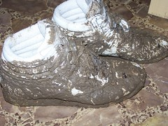really reallly muddy. (Sneaker fan) Tags: wet outside shoe freestyle shoes ditch mud womens sneakers messy worn muddy wam reebok