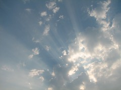 Sunrays Through The Clouds (audreyjm529) Tags: blue sky cloud sun white nature weather clouds shadows zoom ciel rays sunrays nuage nuages mto mtorologie