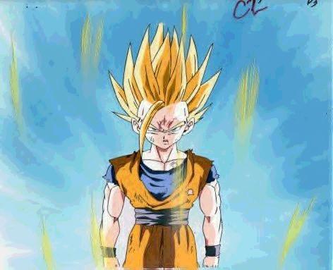 Gohan as Super Saiyan 2.