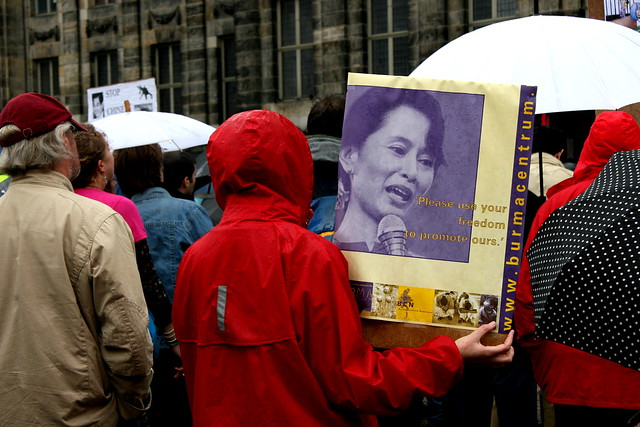 Free Burma Demonstration Amsterdam
