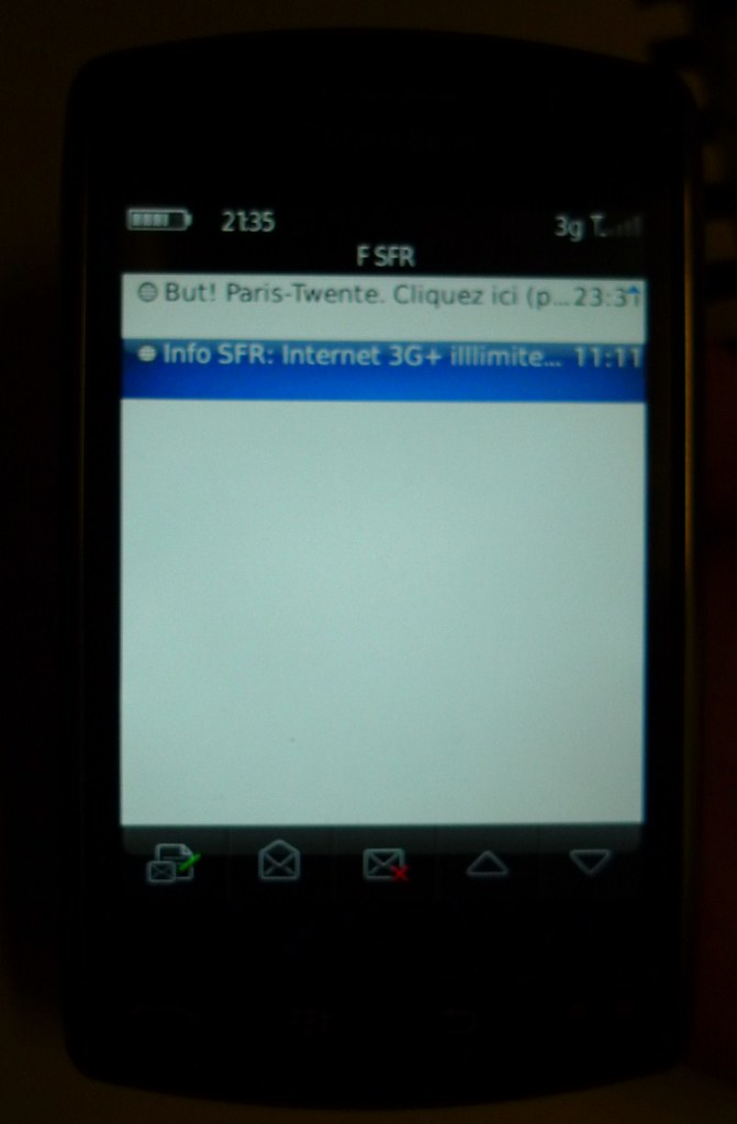 Test Blackberry Storm 9500 SFR