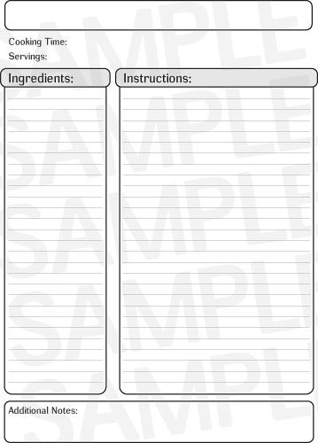 Printable Black Recipe Template  Free Printables Online