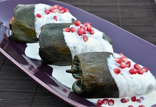 Chiles en Nogada Vegertarian Style