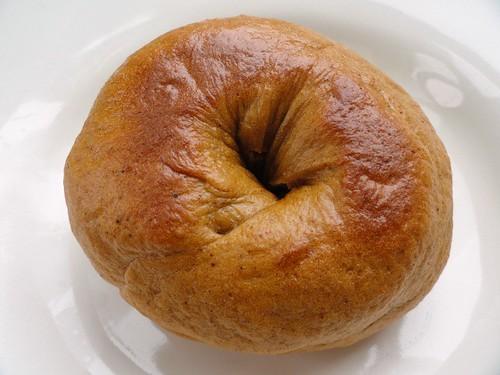 pumpkin spice bagel