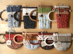 CoffeeMug & TeaCup pouches (PatchworkPottery) Tags: cup coffee bag tea handmade sewing crafts country fabric purse pouch mug zipper quilted coffeemug patchwork teacup wristlet eyeglasscase