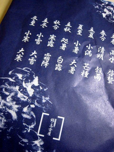 2007.6.16 錦・高倉屋 京都のお漬け物やさん9 包装紙