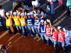 Venezuela! (ervega) Tags: girls college students colors beautiful happy libertad freedom university peace baseball stadium venezuela protest paz colores movimiento caracas ucv estadio eco mujeres ucab universitario felices beisbol estudiantes studentmovement movimientoestudiantil movimientoestudiantilvenezolano venezuelanstudentmovement