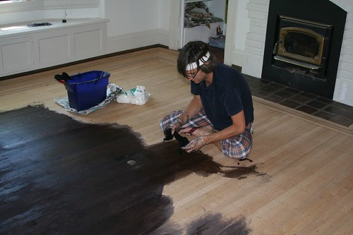 How To Stain A Wood Floor WB Designs