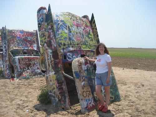 Stephanie at Cadillac Ranch