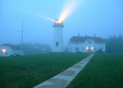 Foggy Day at the Chatham Lighthouse (Chris Seufert) Tags: light lighthouse fog capecod massachusetts newengland safety chatham maritime beacon foggyday flickrsbest flickrsilver utatafeature mywinners