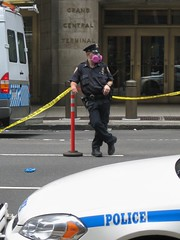 NYPD Cop at Steam Explosion (buff_wannabe) Tags: nyc cops pipe explosion police nypd steam policecar unusual incident asbestos