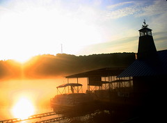 Docked at Dawn... (~M~Chelle & her view***) Tags: orange usa lake nature water beauty silhouette sunrise boats dawn dock natural mo missouri ozarks branson taneycomo mywinners taneycounty trophywinner cmeradeourobrasil impressedbeauty bransonarea ~m~chelle trilakesarea