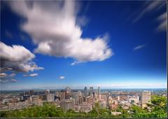 fast forward over Montreal (David Giral | davidgiralphoto.com) Tags: people canada nikon quebec montreal royal sigma lookout tourists ghosts d200 1020mm mont sigma1020mm nd400 belvdre sigma1020 nikond200 copyrightdgiral davidgiral