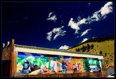Creede Mural (belizeman01) Tags: ufo sanluisvalley watchtower riogranderiver creede greatdunesnationalpark