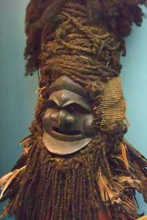 Asmat Demon Mask natural fiber New Guinea