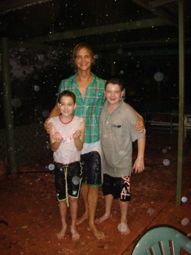 Rain dance with Jayden & Tayla...
