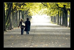Autumn (edouardv66) Tags: park autumn people woman man color girl automne walking switzerland nikon suisse geneva path walk d200 genève parc 18200 vr deadleaf excapture theperfectphotographer