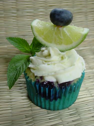 Blueberry Mojito Cupcake
