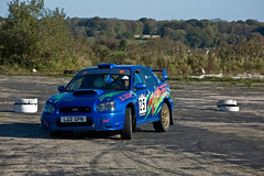 DSC_3235 (Alastair Cummins) Tags: cars ford car stage rally stages subaru prima mitsubishi peugeot sme airfield 2010 rallying smeatharpe