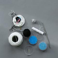 making of (ulaniulani) Tags: beads brooch crochet inprogress etsy crochethook cottonyarn