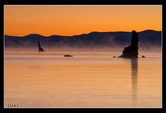 Tufa Towers in the Mist (jeandayphotography.com) Tags: ca lake mountains fall water colors silhouette fog sunrise reflections october rocks desert monolake tufa 2010 leevining mhw jday easternsierranevada jeanday mountainhighworkshops
