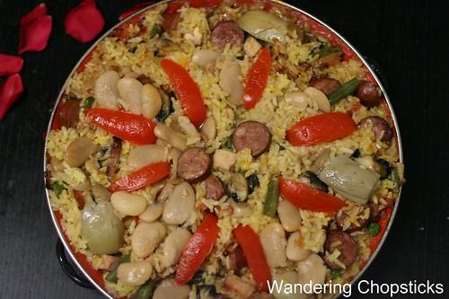 Paella Valenciana (Spanish Valencian Pan Rice) 1