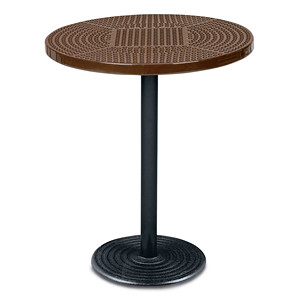 D1155 - Portable Bar Height Bistro Table with Perforated Surface