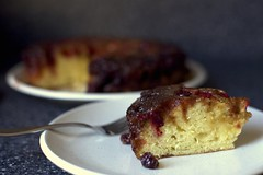 Upside-Down Cranberry Caramel Cake