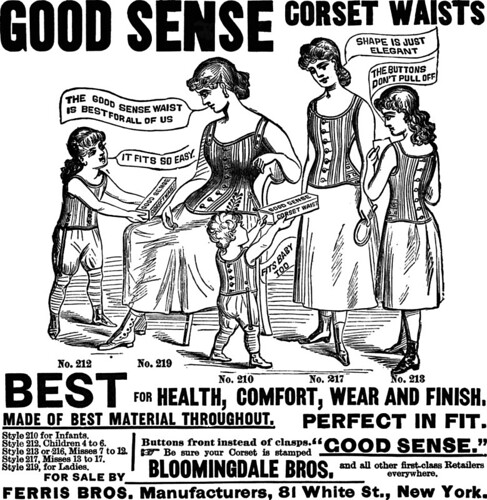 "1886 ""Good Sense"" corsets"