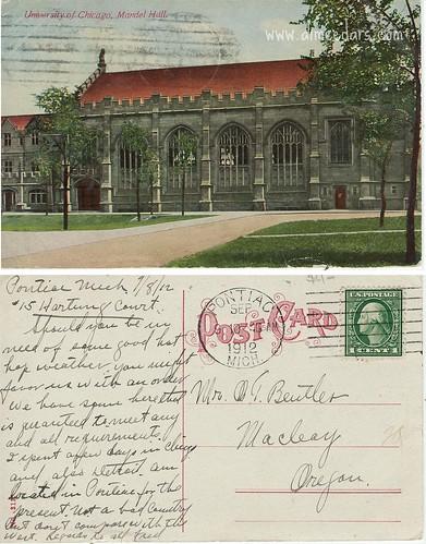 UC- Mandel Hall (1912)