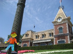 Flat Stanley went to Disneyland. (04/07)